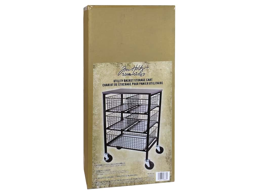 Tim Holtz Idea-ology Utility Basket Storage Cart