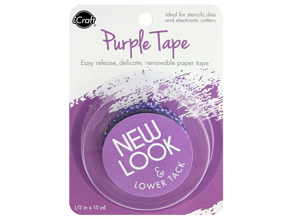 """iCraft Tape Removable .5""""x 15yd Purple"""