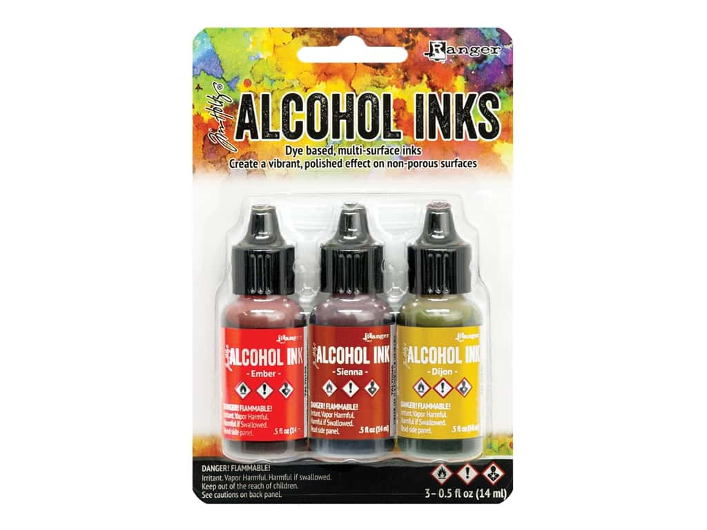 Ranger Tim Holtz Alcohol Ink Set Orange/Yellow Spectrum