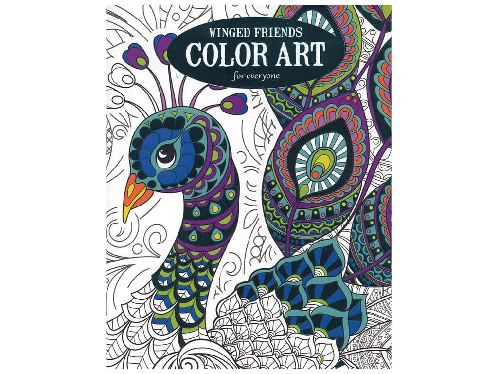 Leisure Arts Winged Friends Color Art For Everyone Coloring Book