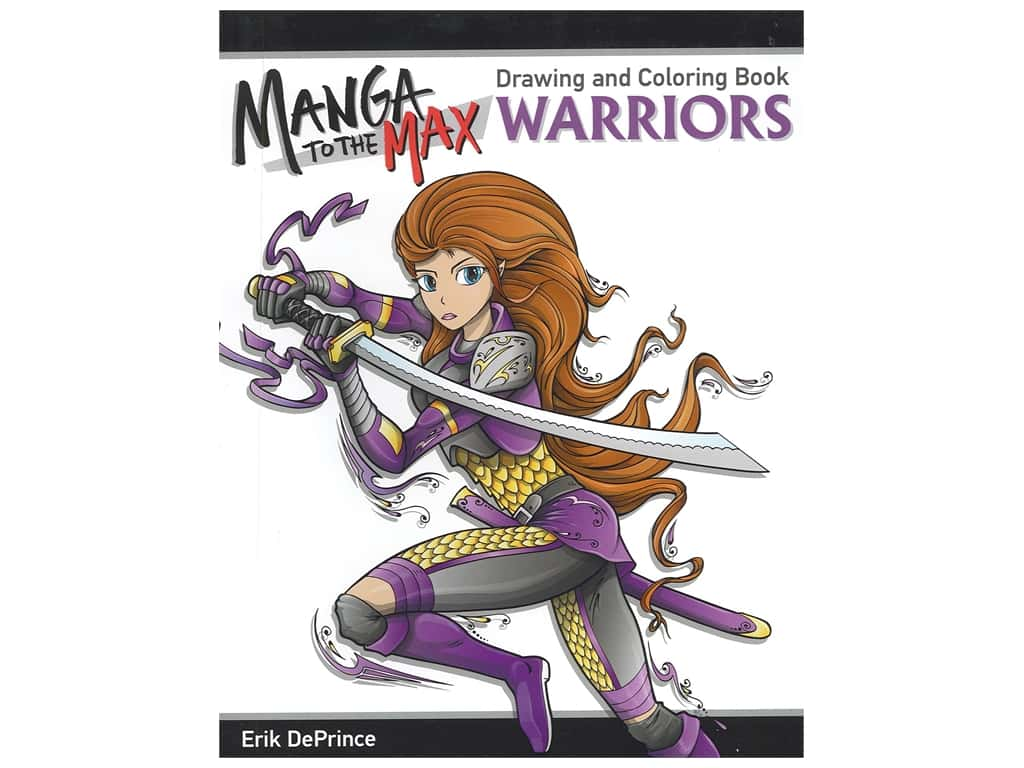 Design Originals Magna To The Max Warriors Drawing and Coloring Book