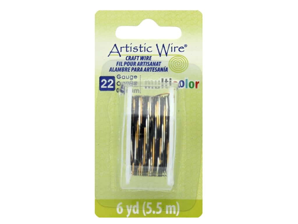 Artistic Wire Multicolor Craft Wire 22 Ga 6 yd. Silver/Gold/Black