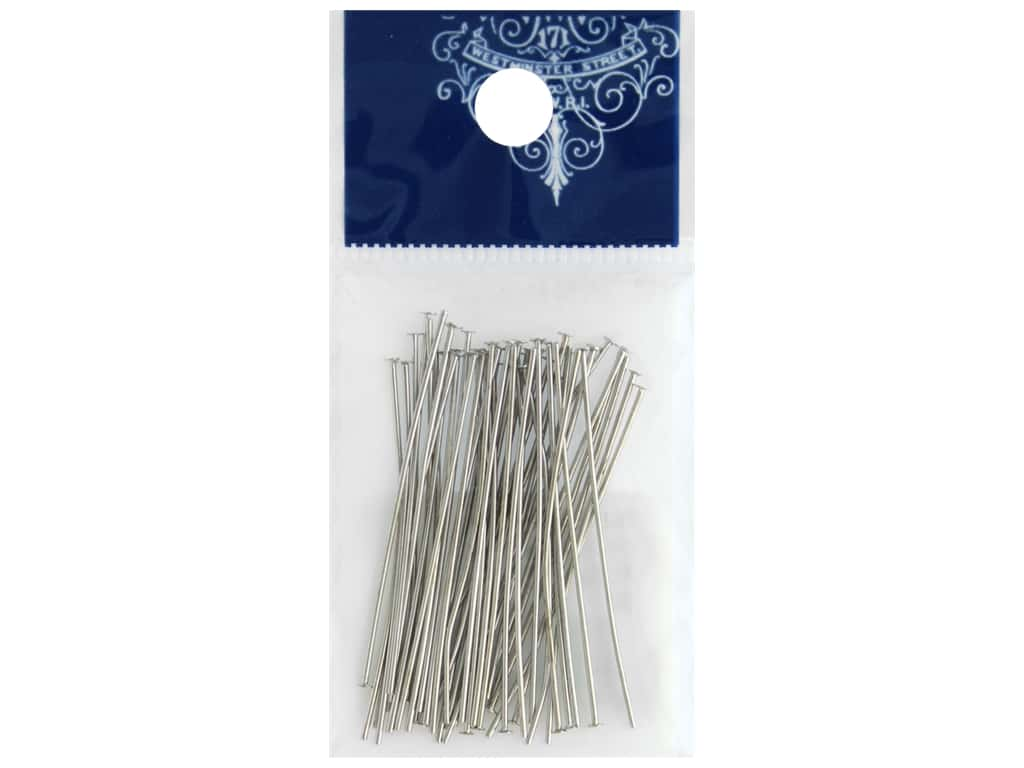 Resinate Headpin 0.6 mm x 40.0 mm Silver