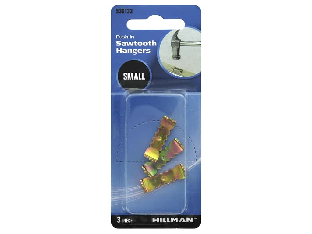 Hillman Push In Self Leveling Sawtooth Hangers Small 3pc