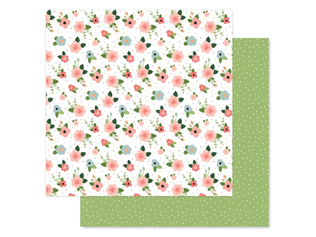 Echo Park Baby Girl Collection Paper 12 in. x 12 in. Newborn Floral (25 pieces)