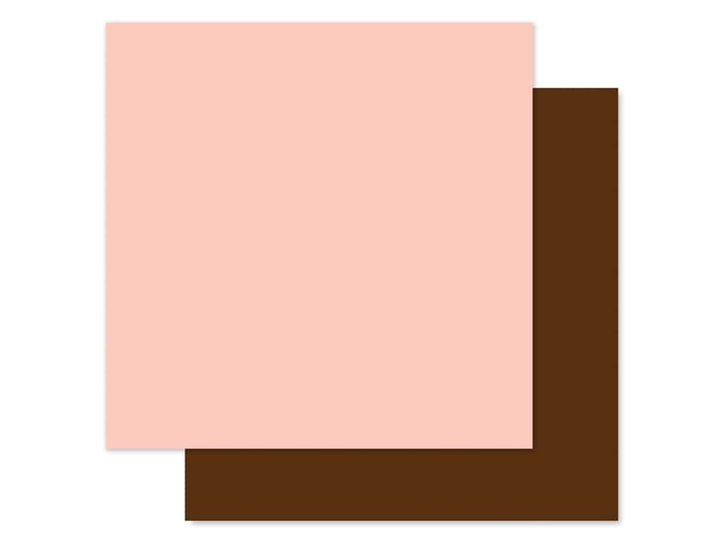 Echo Park Baby Girl Collection Paper 12 in. x 12 in. Light Pink/Brown (25 pieces)