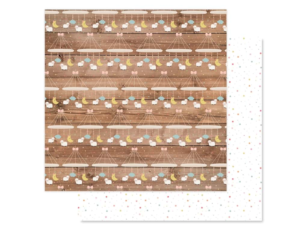 Echo Park Baby Girl Collection Paper 12 in. x 12 in. Little Lady Mobile (25 pieces)