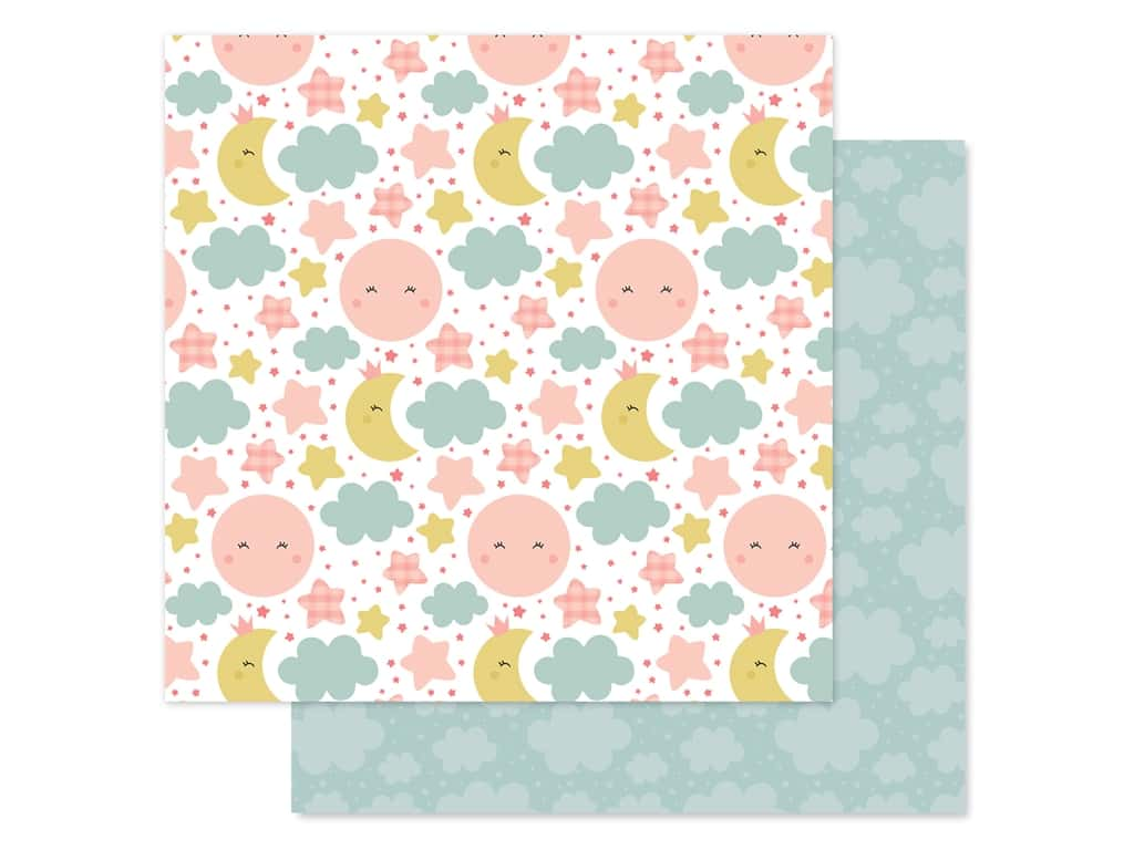 Echo Park Baby Girl Collection Paper 12 in. x 12 in. Dream Big (25 pieces)