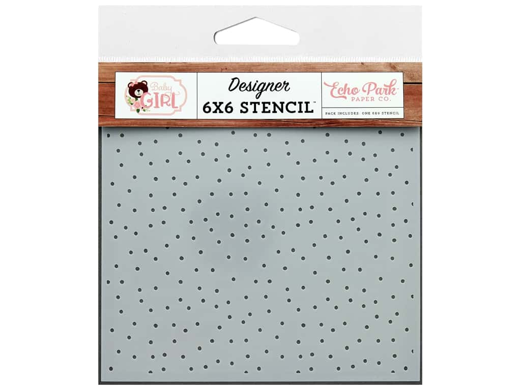Echo Park Baby Girl Collection Stencil Sweet Girl Dot