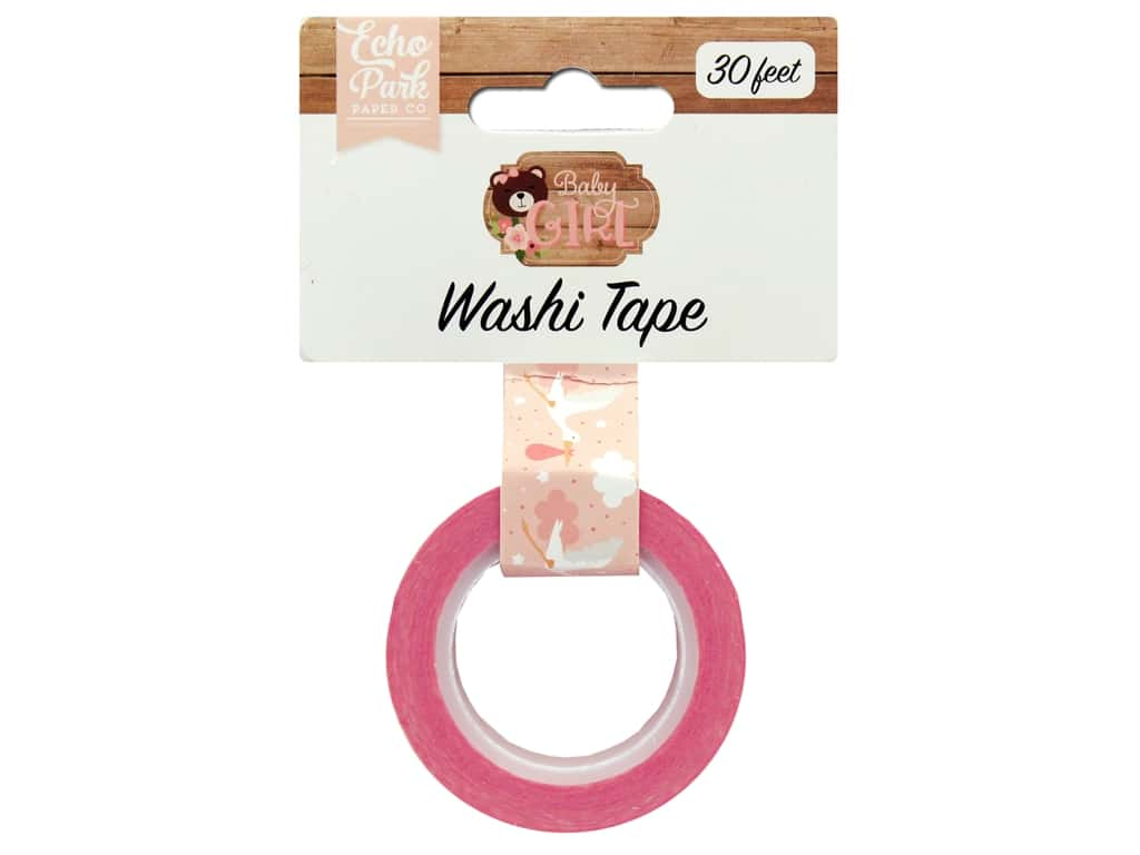 Echo Park Baby Girl Collection Washi Tape Stork
