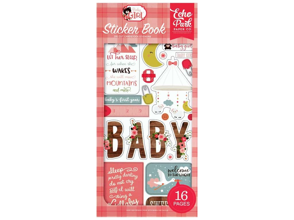 Echo Park Baby Girl Collection Sticker Book