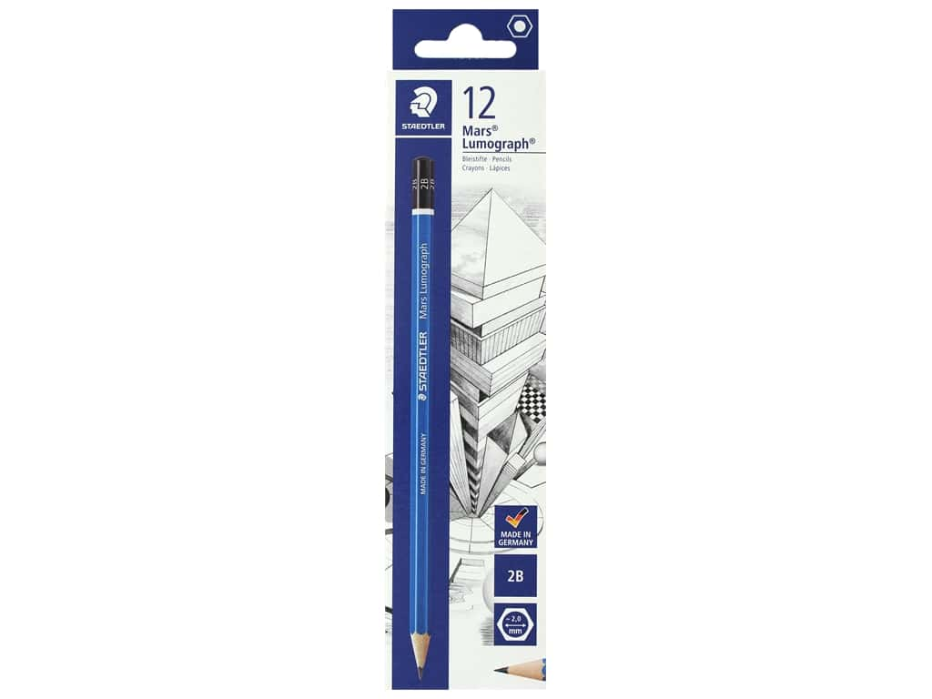 Staedtler Mars Lumograph Pencil Black 100-2B Bulk (12 pieces)