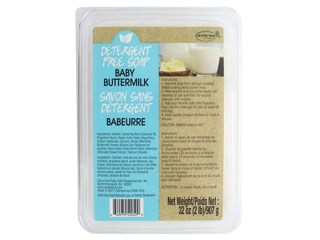Life Of The Party Base Soap Detergent Free 2lb Buttermilk