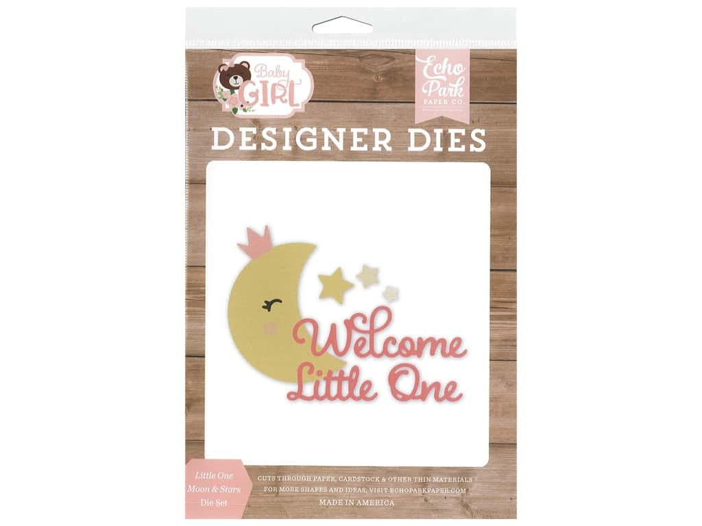 Echo Park Collection Baby Girl Die Set Little One Moon & Stars