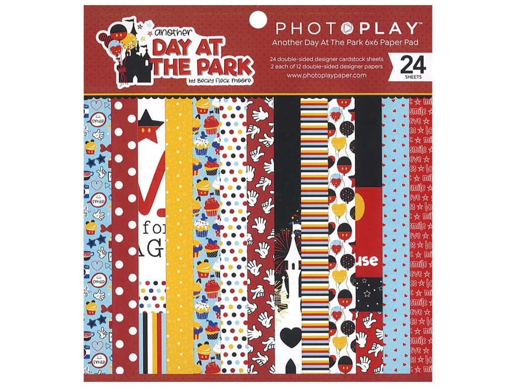 "Photo Play Collection Another Day At The Park Paper Pad 6""x 6"""