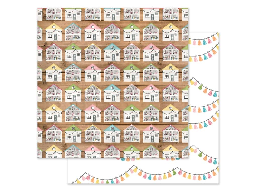 Echo Park Collection All Girl Paper 12 in. x 12 in. Dollhouse Dreams (25 pieces)