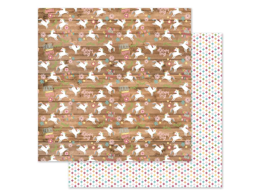 Echo Park Collection All Girl Paper 12 in. x 12 in. Happy Unicorns (25 pieces)