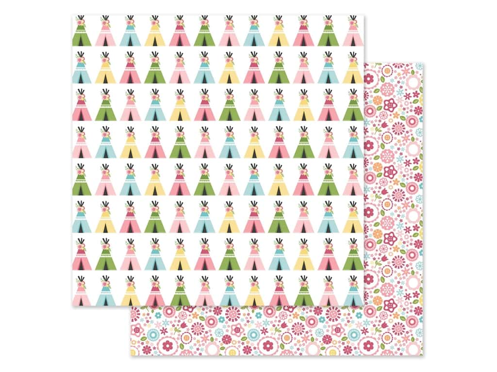 Echo Park 12 x 12 in. Paper All Girl - Teepee Trails (25 pieces)