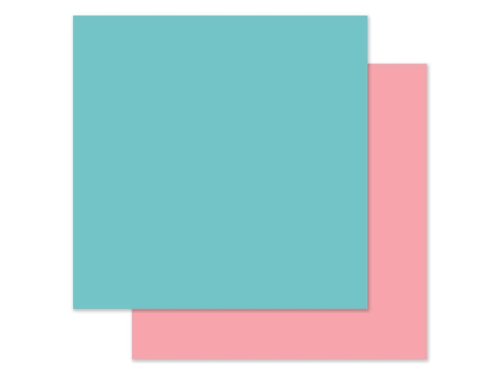 Echo Park 12 x 12 in. Paper All Girl - Teal/Pink (25 pieces)