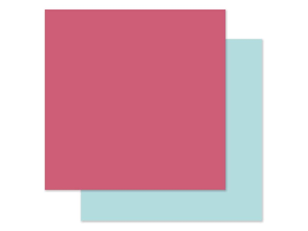 Echo Park Collection All Girl Paper 12 in. x 12 in. Dark Pink/Light Blue (25 pieces)