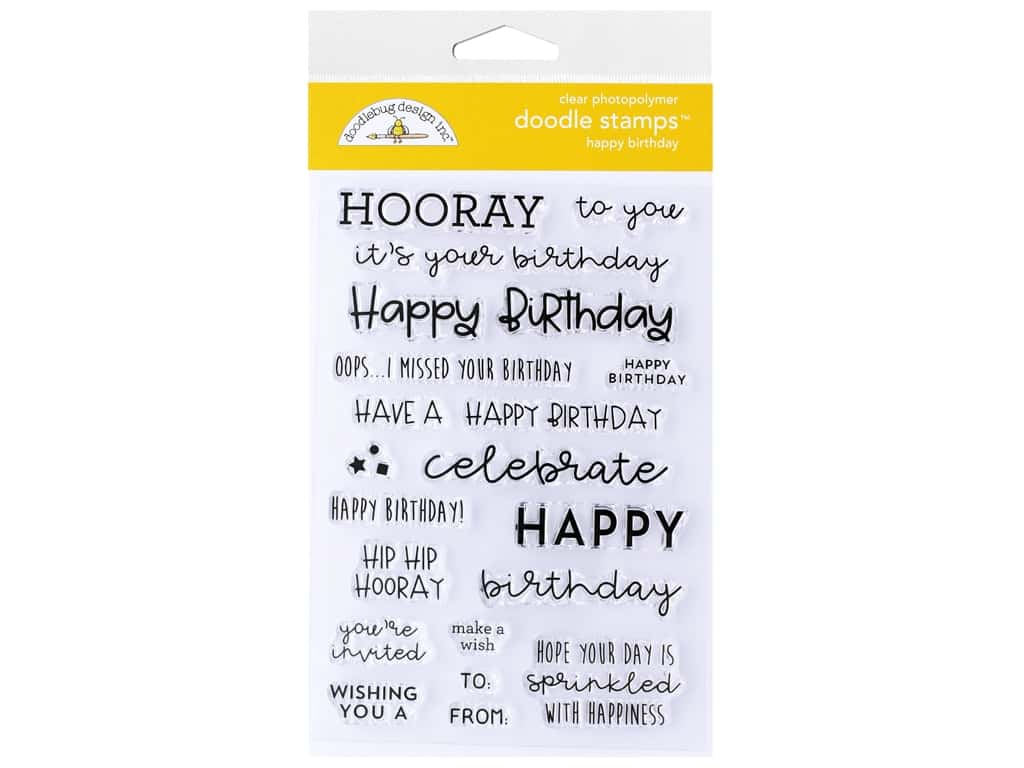 Doodlebug Collection All Occasion Stamp Happy Birthday