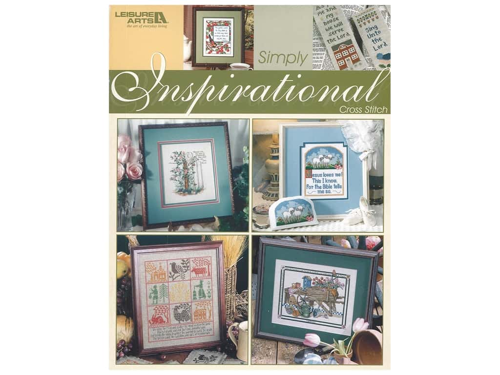 Leisure Arts Simply Inspirational Cross Stitch Book