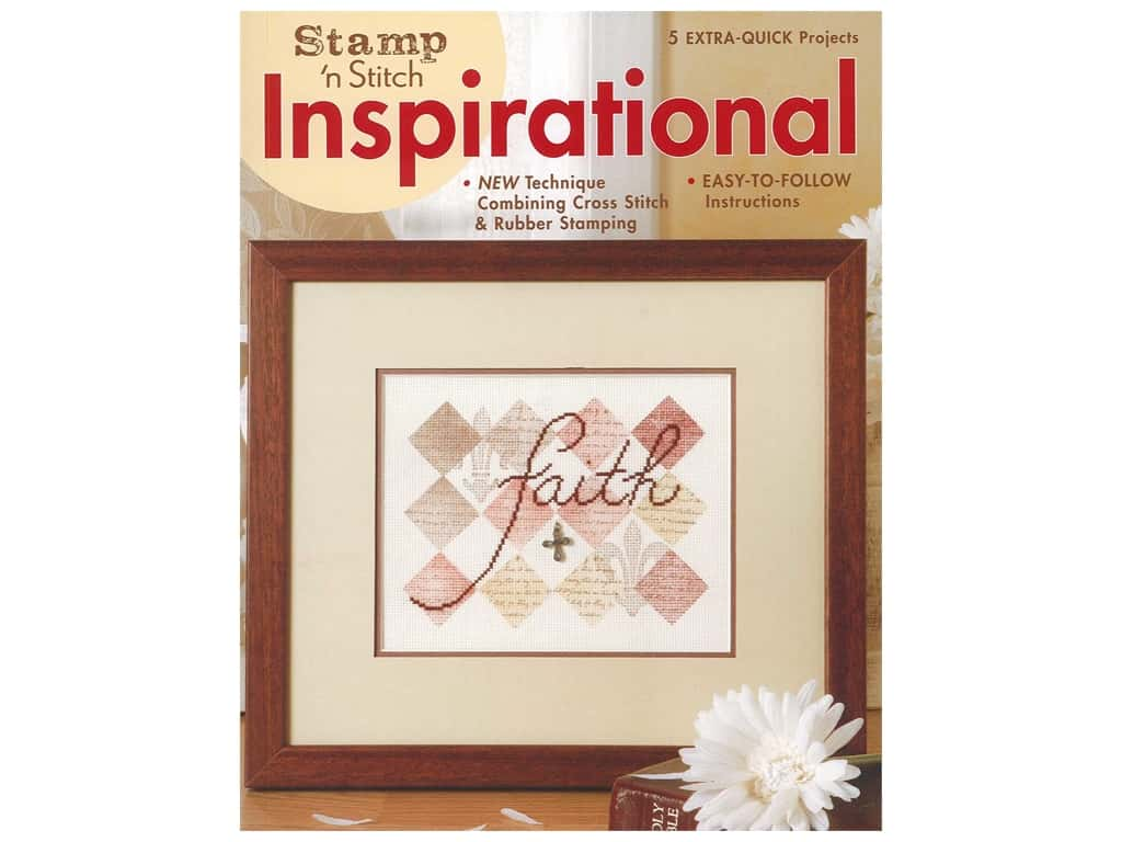 Leisure Arts Stamp 'N Stitch Inspirational Cross Stitch Book