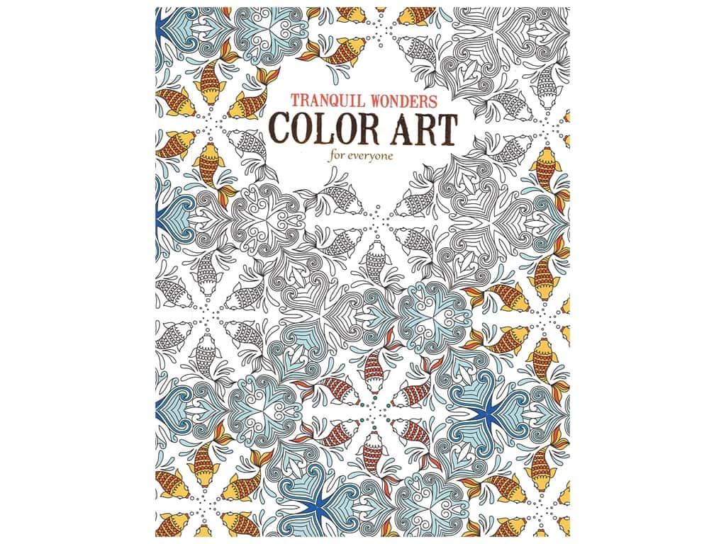 Leisure Arts Tranquil Wonders Color Art For Everyone Colorig Book