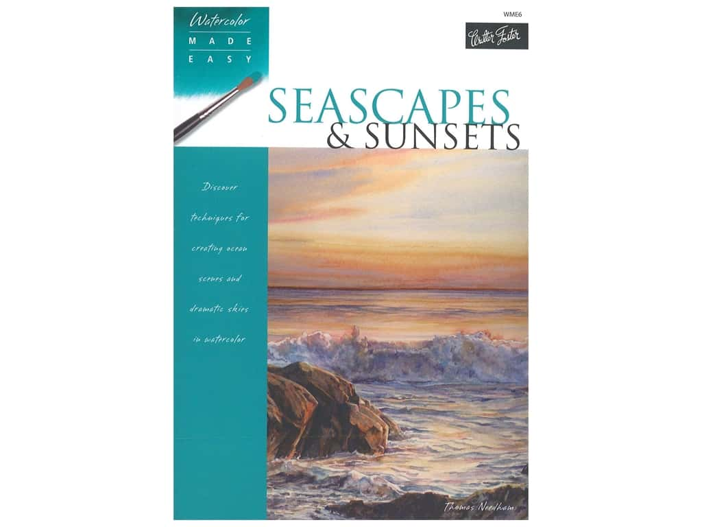 Walter Foster Watercolor Made Easy Seascapes & Sunsets Book