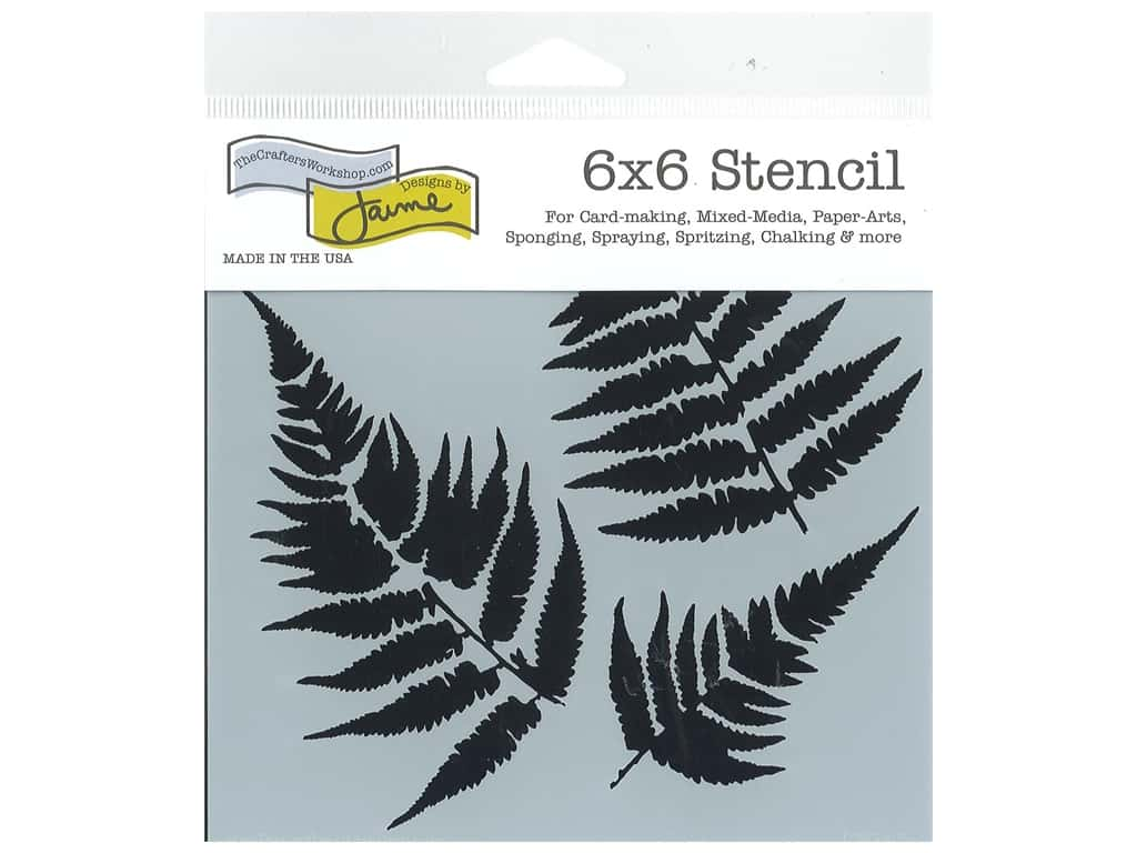 The Crafter's Workshop Template 6 x 6 in. Ferns