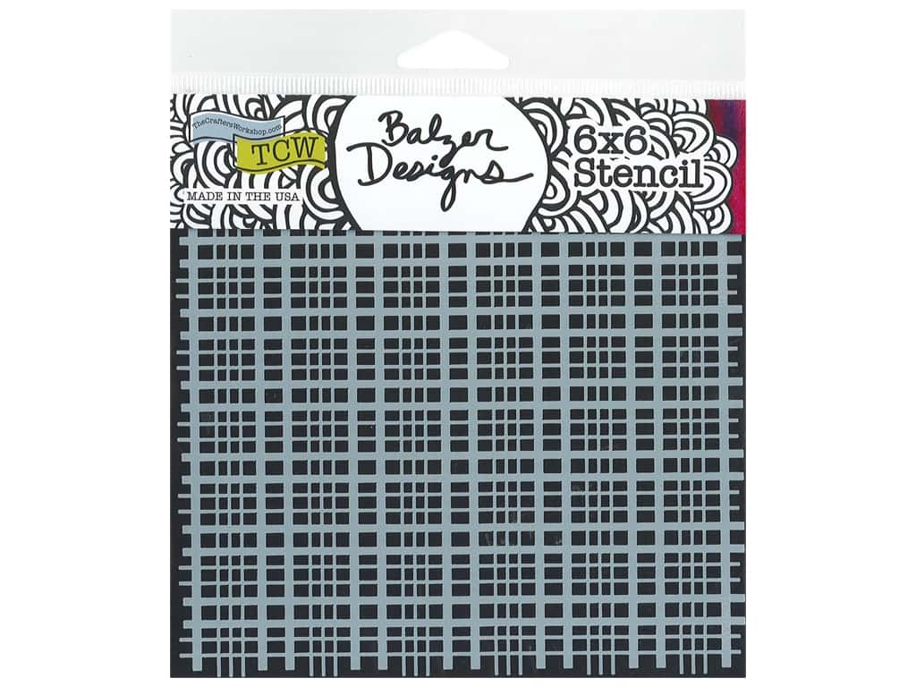 The Crafter's Workshop Stencil 6 x 6 in. Plaid Fringe