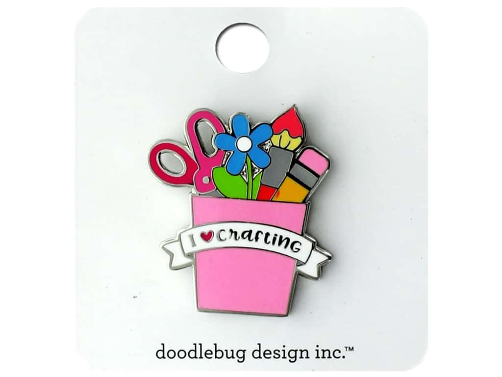 Doodlebug Embellishment Collectible Pin I Heart Crafting
