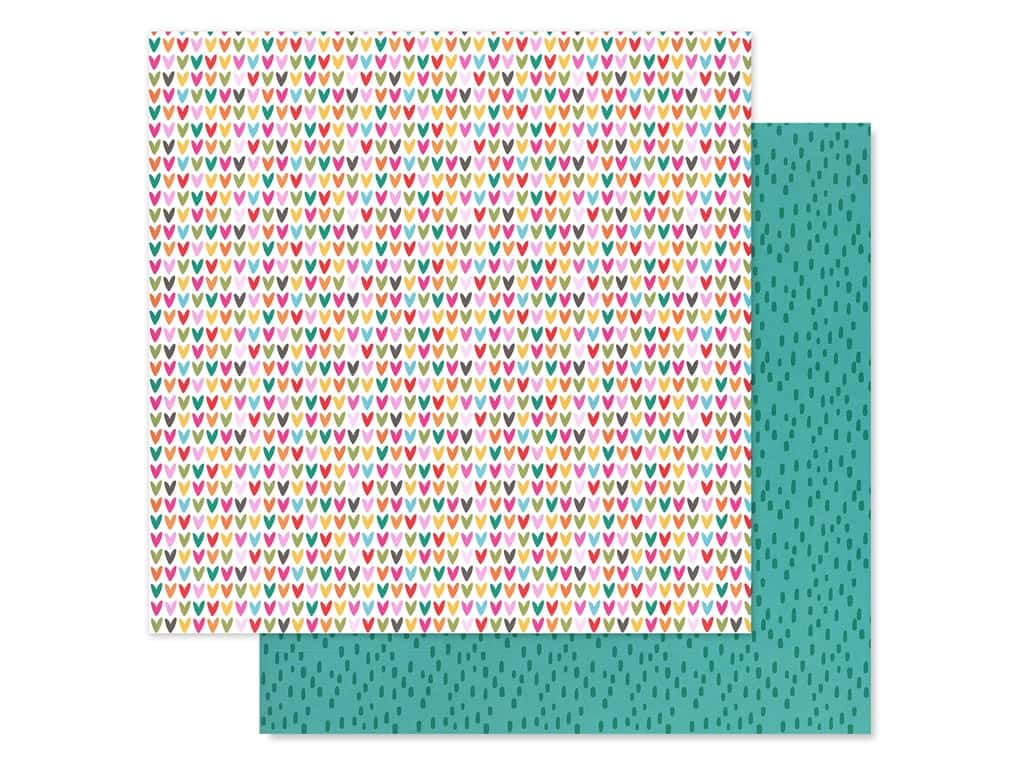 Bella Blvd Collection Squeeze The Day Paper 12 in. x 12 in. Fruity Hearts (25 pieces)