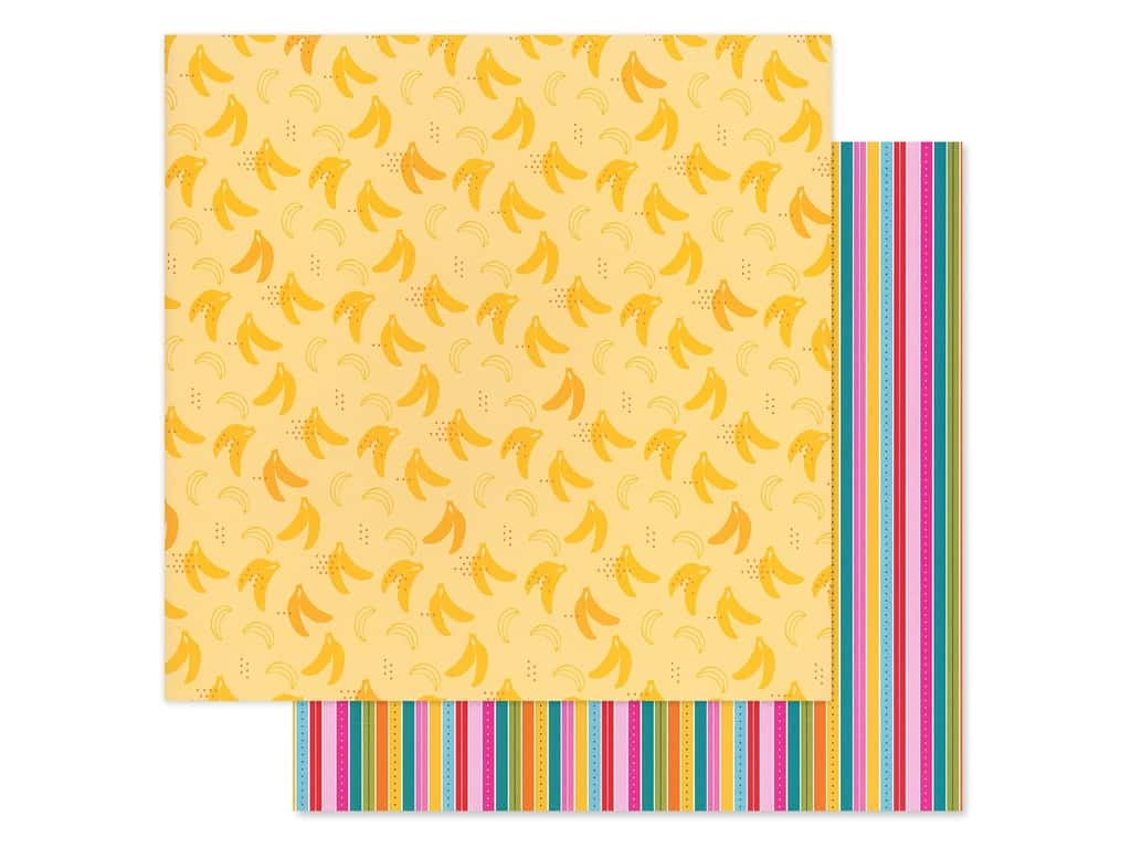 Bella Blvd Collection Squeeze The Day Paper 12 in. x 12 in. Bananas For You (25 pieces)