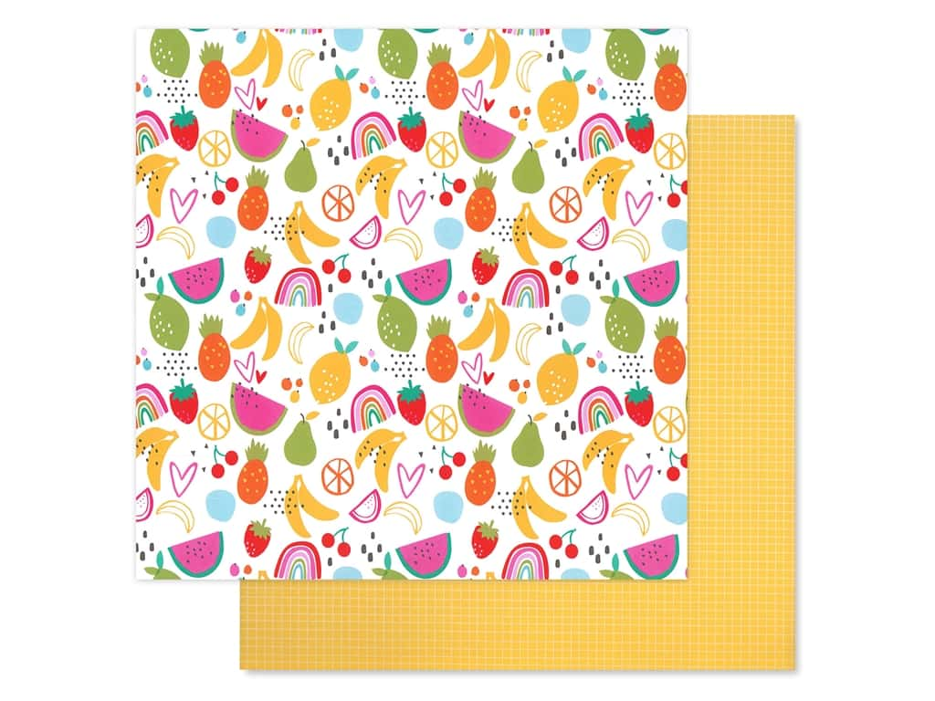 Bella Blvd Collection Squeeze The Day Paper 12 in. x 12 in. Fruit Salad (25 pieces)