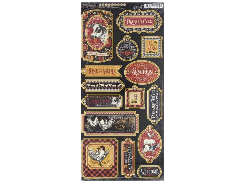 Graphic 45 Collection Farmhouse Chipboard