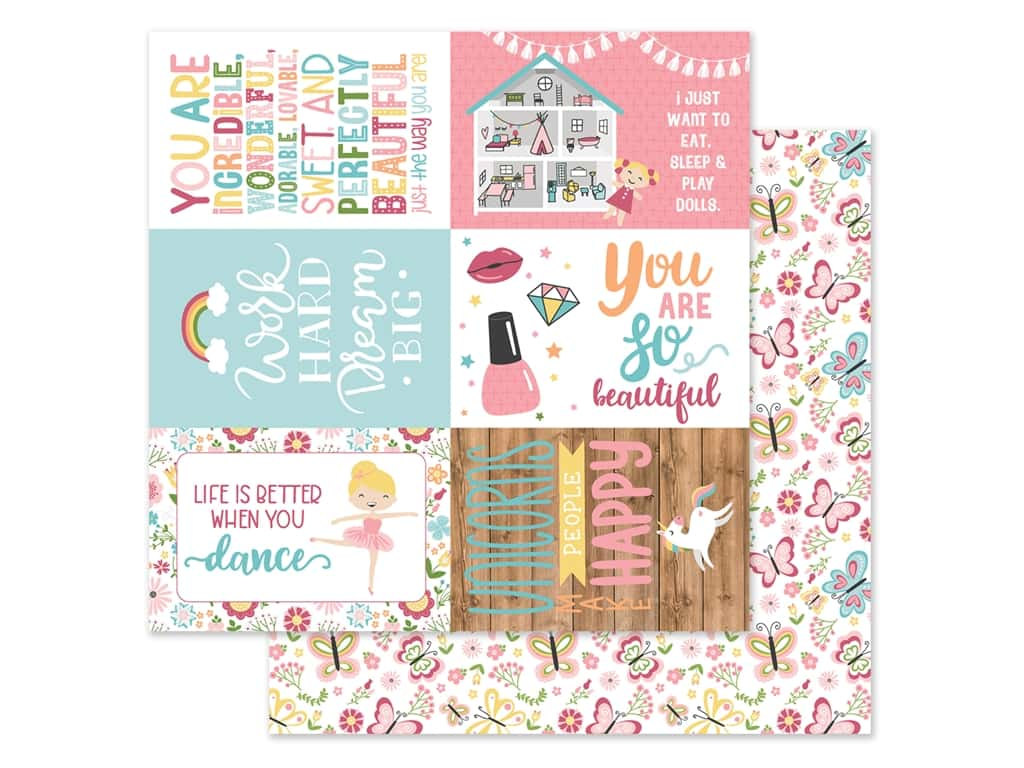 Echo Park 12 x 12 in. Paper All Girl - Journaling Cards 4 x 6 in. (25 pieces)