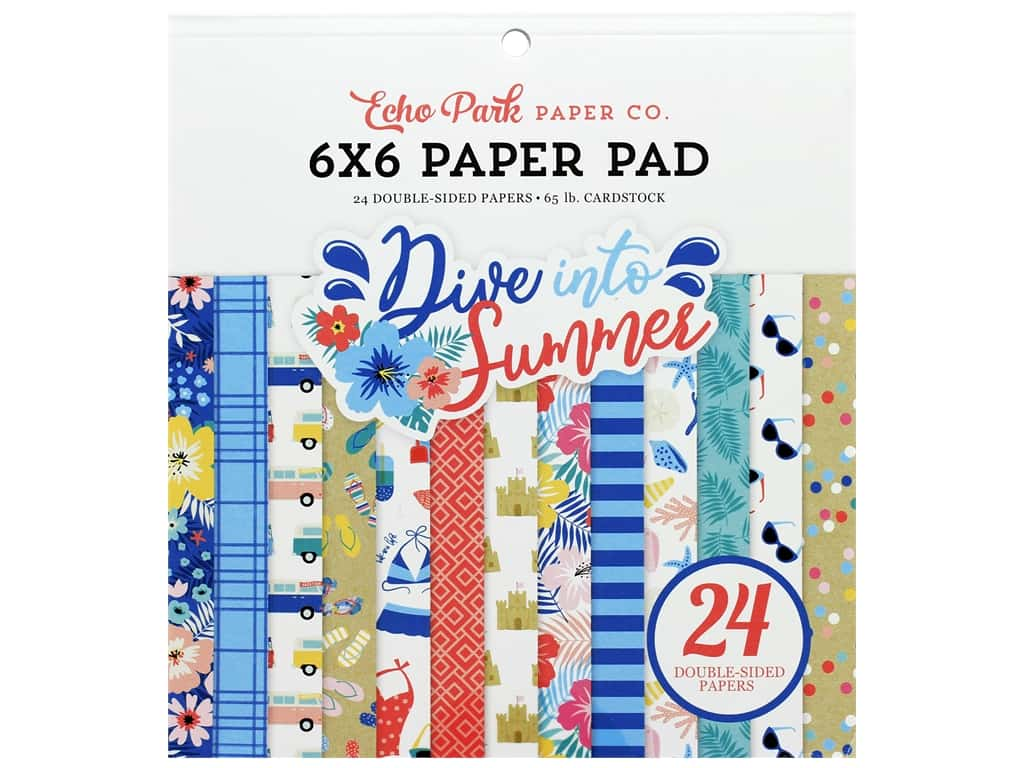 Echo Park Collection Dive Into Summer Paper Pad 6 in. x 6 in.