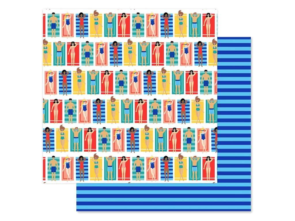 Echo Park Collection Dive Into Summer Paper 12 in. x 12 in. Beach Loungers (25 pieces)