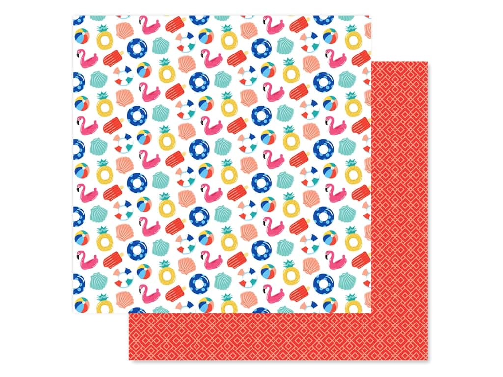 Echo Park Collection Dive Into Summer Paper 12 in. x 12 in. Fabulous Floaties (25 pieces)