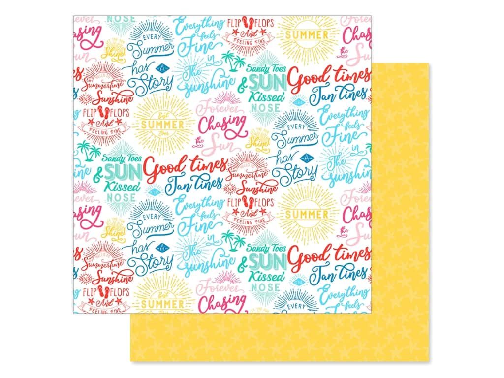 Echo Park Collection Dive Into Summer Paper 12 in. x 12 in. Good Times (25 pieces)