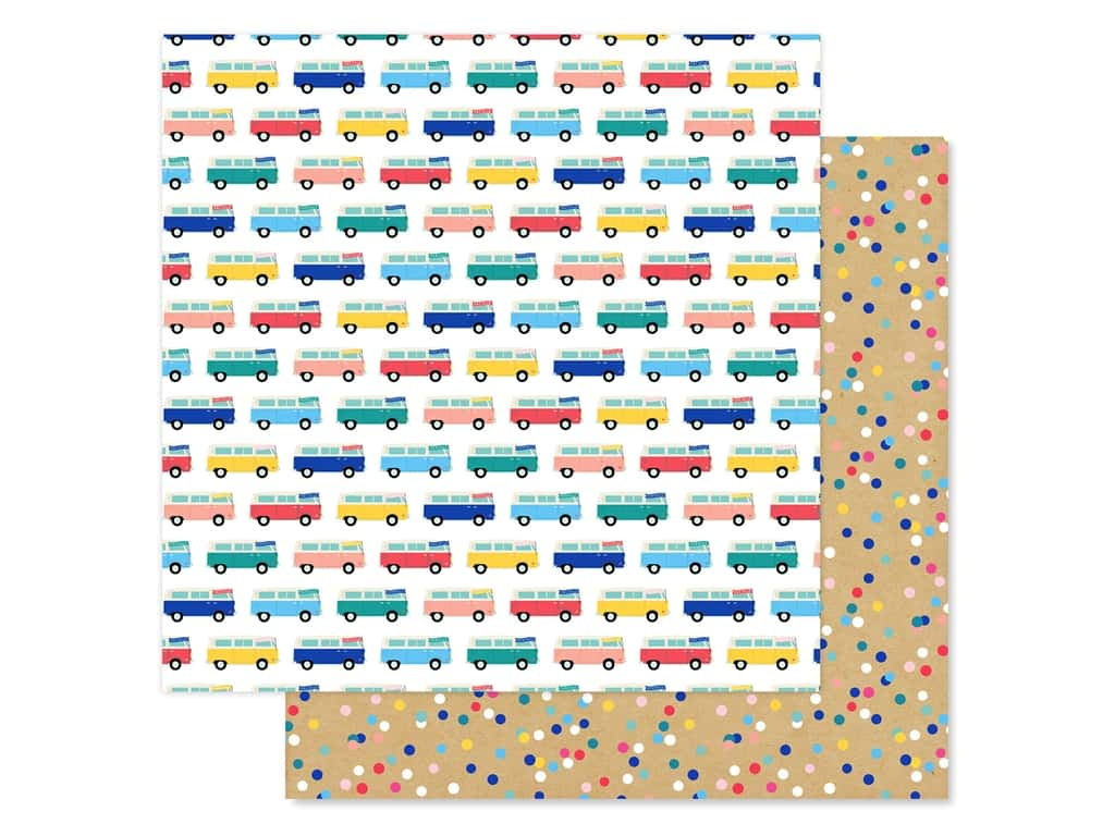 Echo Park Collection Dive Into Summer Paper 12 in. x 12 in. Adventure Bus (25 pieces)