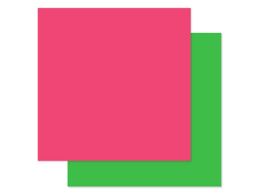 Echo Park Collection Dive Into Summer Paper 12 in. x 12 in. Dark Pink/Green (25 pieces)