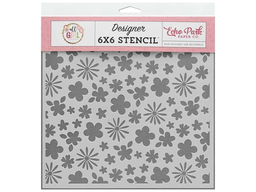 Echo Park Collection All Girl Stencil Floral