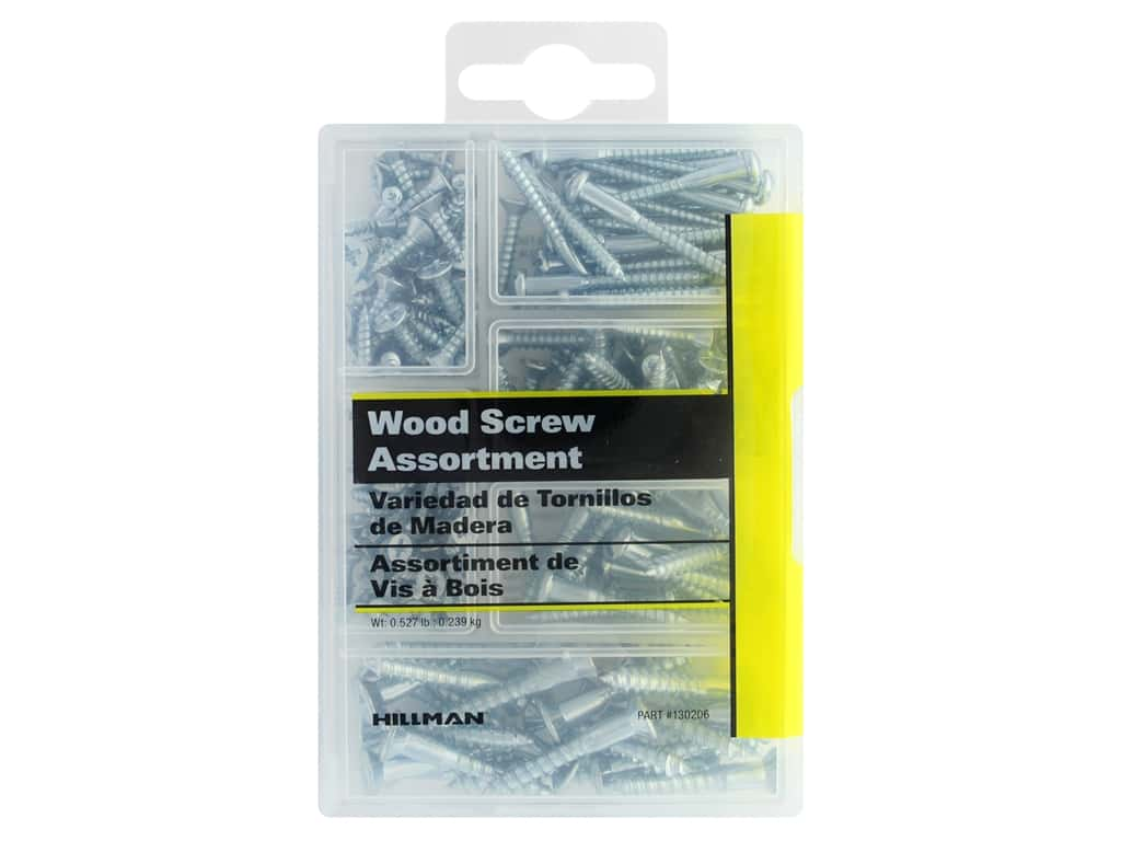 Hillman Wood Screw Assortment 0.53lb