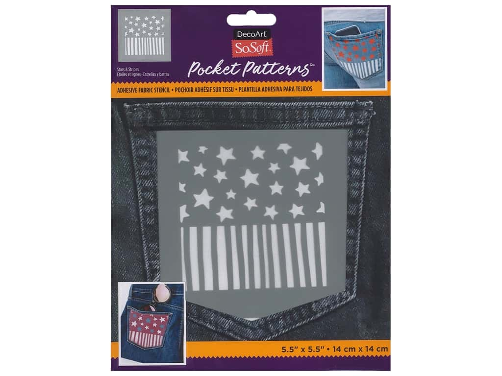 DecoArt Stencil SoSoft Fabric 5.5 in. x 5.5 in. Star & Stripe
