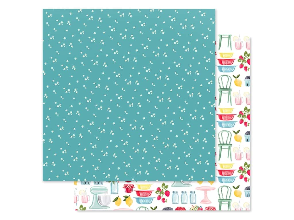 Carta Bella Collection Summer Market Paper 12 in. x 12 in. Tiny Flowers (25 pieces)