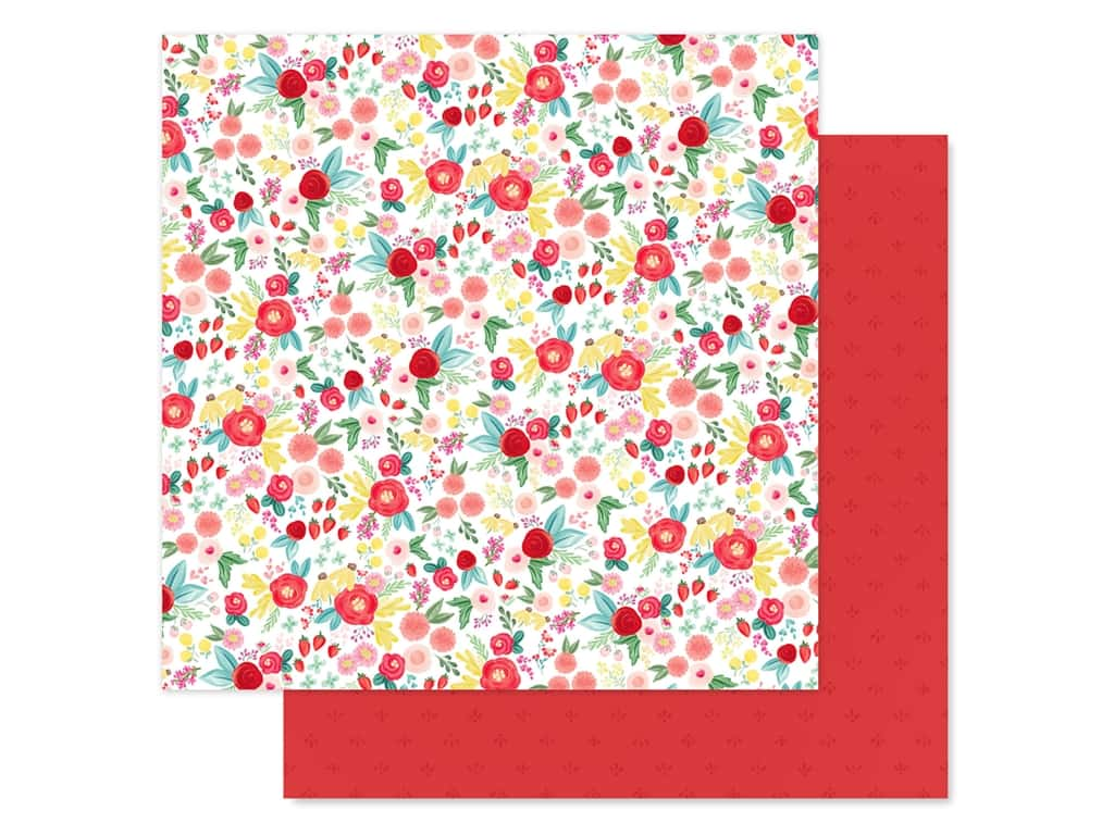 Carta Bella Collection Summer Market Paper 12 in. x 12 in. Summer Floral (25 pieces)