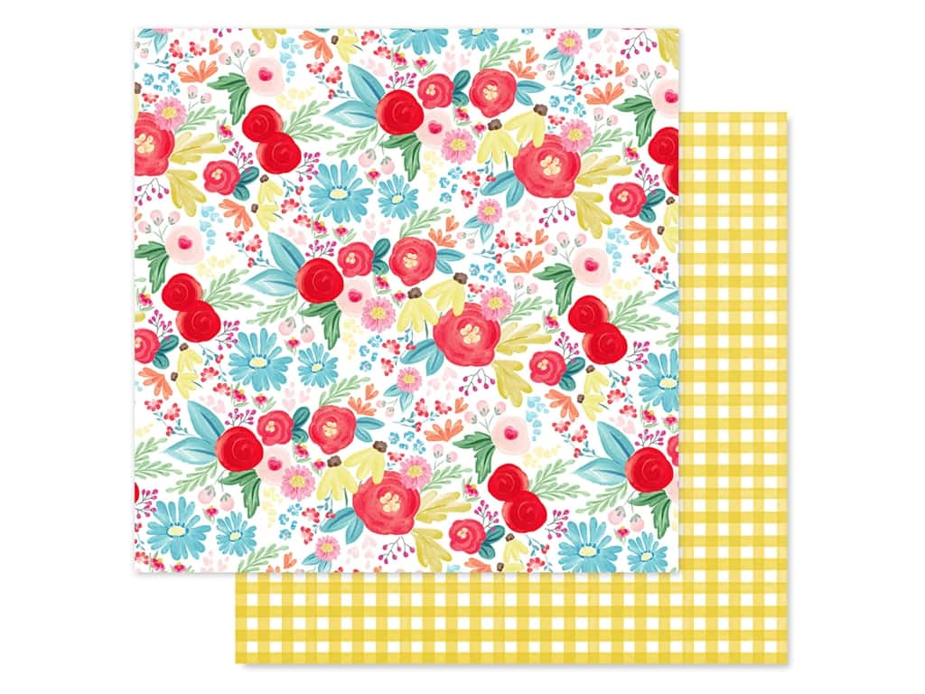 Carta Bella Collection Summer Market Paper 12 in. x 12 in. Summer Day Floral (25 pieces)