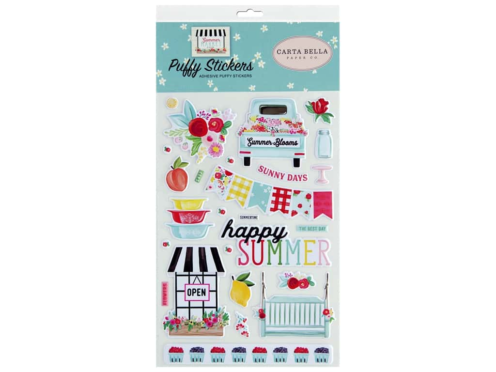 Carta Bella Collection Summer Market Sticker Puffy